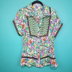 NY Collection Boho Floral Top